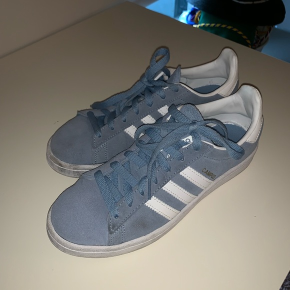 Adidas Baby Blue Campus Shoes US6